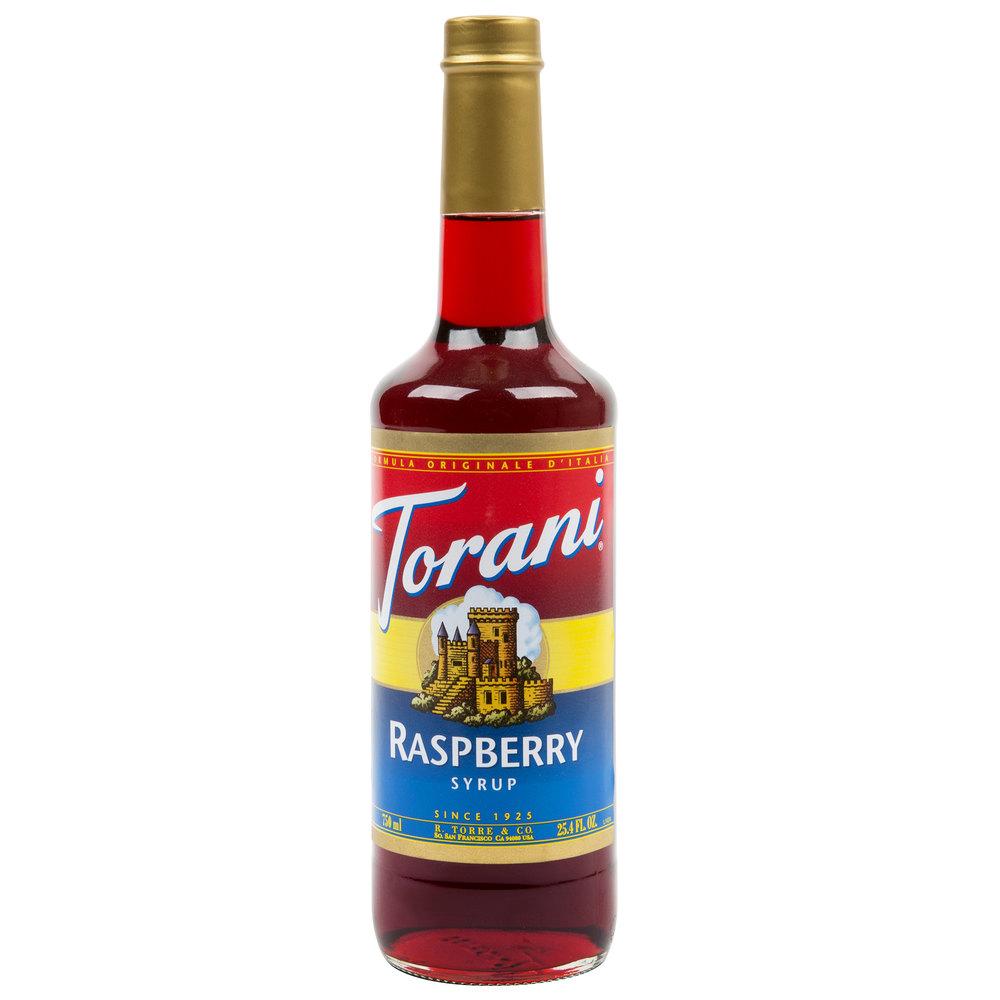 Torani 750 mL Raspberry Flavoring  Fruit Syrup