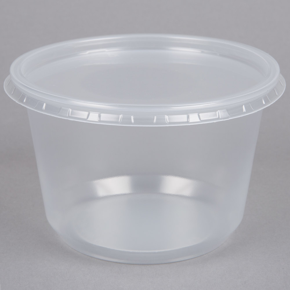 Choice 16 oz Microwavable Contact Clear Round Deli