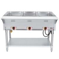 120V APW Wyott SST3 Stationary Steam Table - Three Pan ...