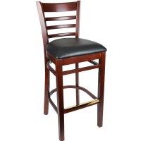 Lancaster Table & Seating Mahogany Ladder Back Bar Height ...