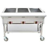 APW Wyott PSST3S Portable Steam Table - Three Pan - Sealed ...