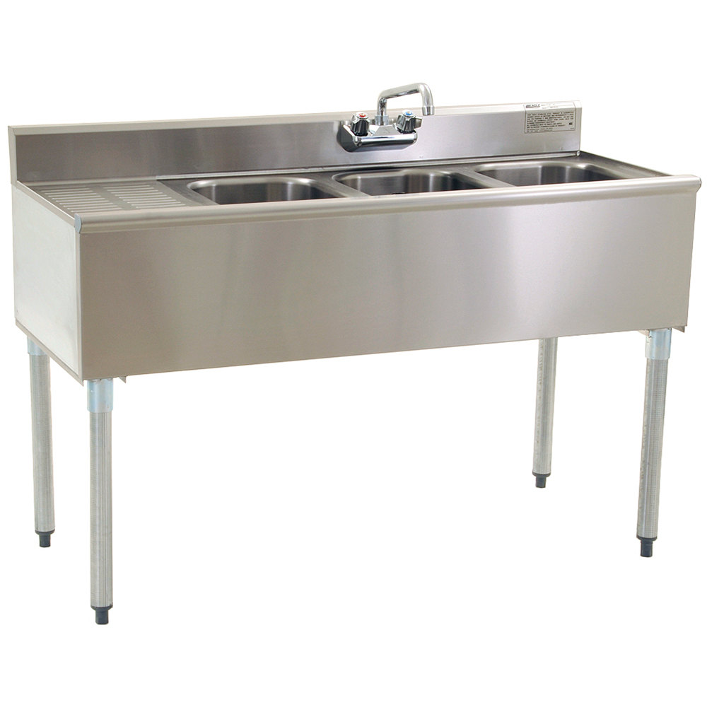 Eagle Group B4 3 Compartment Under Bar Sink with One