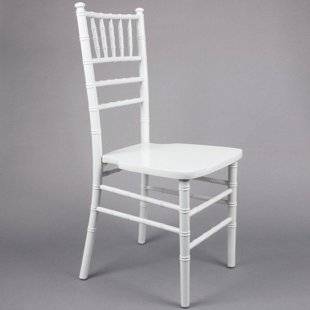 White Chiavari Chair  Lancaster Table  Seating