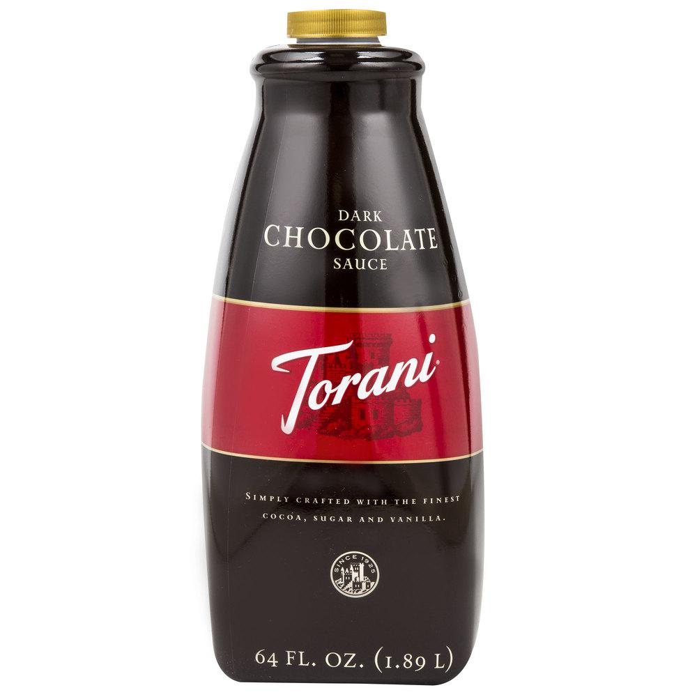 Torani 64 oz Dark Chocolate Flavoring Sauce
