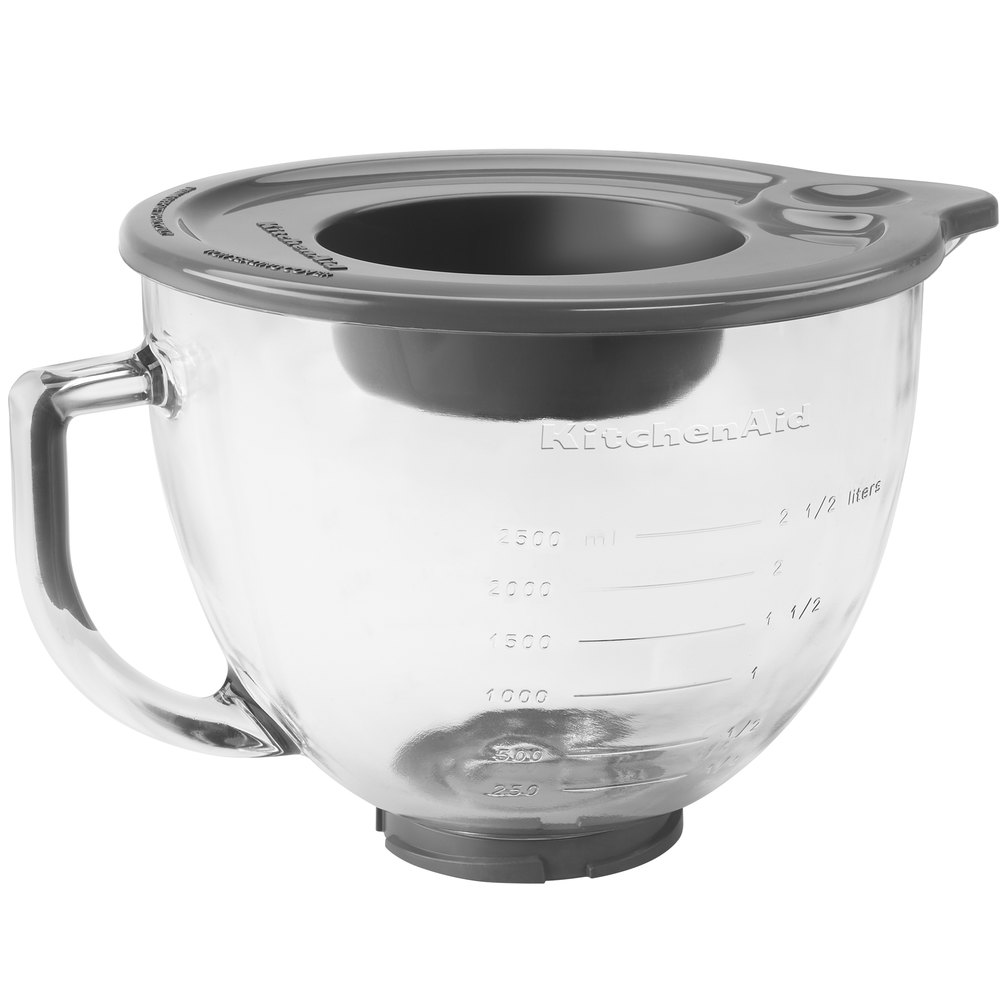 kitchen aid bowls wall plaques kitchenaid k5gb 5 qt. glass mixing bowl with handle and ...