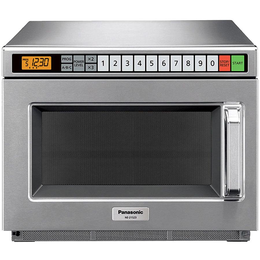 panasonic ne 21523 stainless steel commercial microwave oven 208 230 240v 2100w