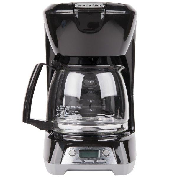 Proctor Silex 43672 Black Programmable 12 Cup Coffee Maker
