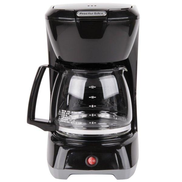 Proctor Silex 43602 Black 12 Cup Coffee Maker