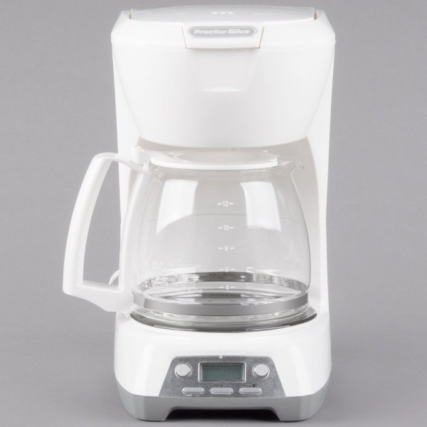 Proctor Silex 43671 White Programmable 12 Cup Coffee Maker