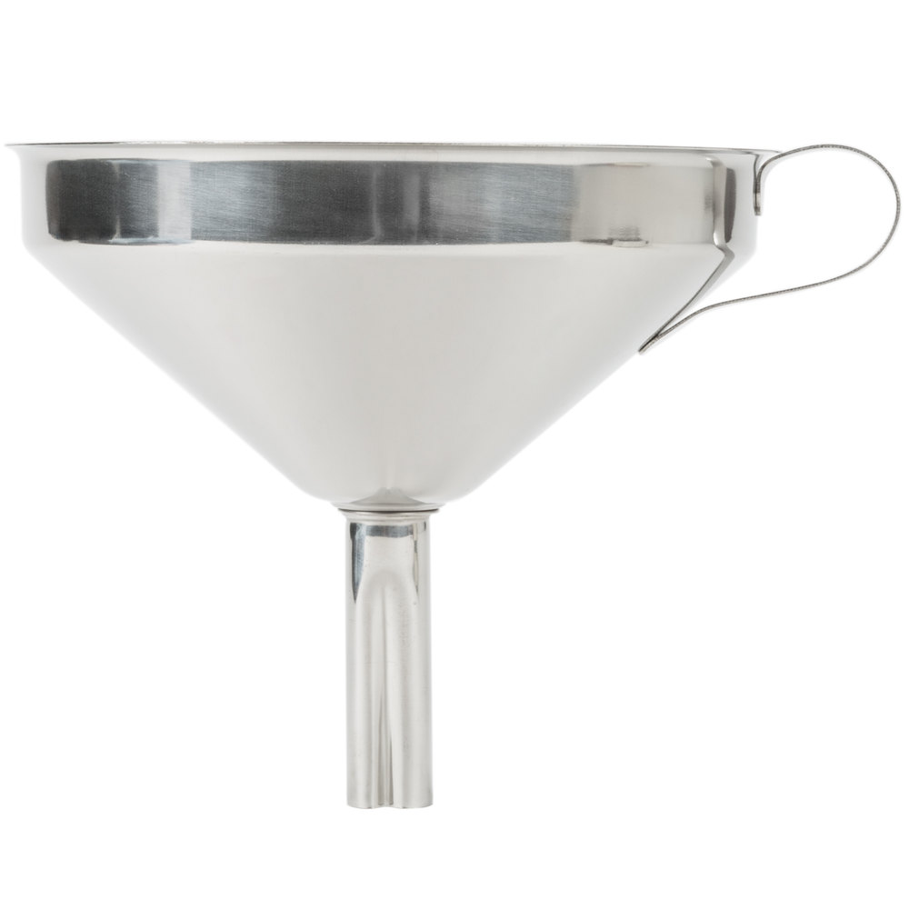 kitchen funnel cabin decor 16 oz. stainless steel with strainer