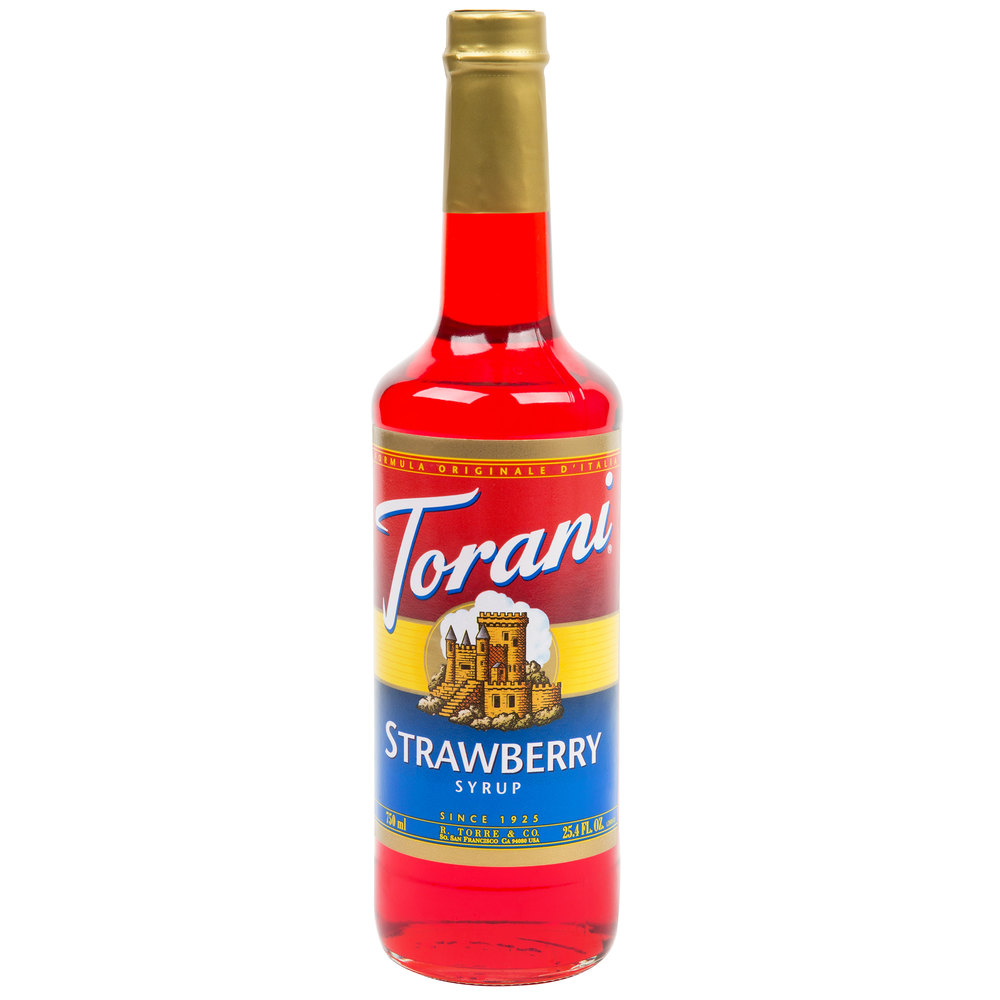 Torani 750 mL Strawberry Flavoring  Fruit Syrup