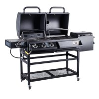 Backyard Pro Portable Outdoor Gas and Charcoal Grill ...