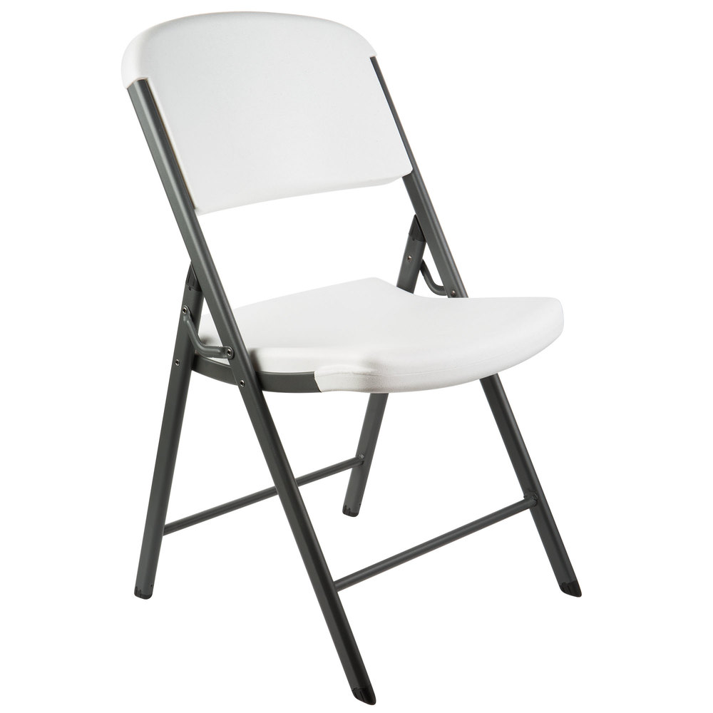 white folding chair metal dining room table and chairs lifetime 2802 contoured