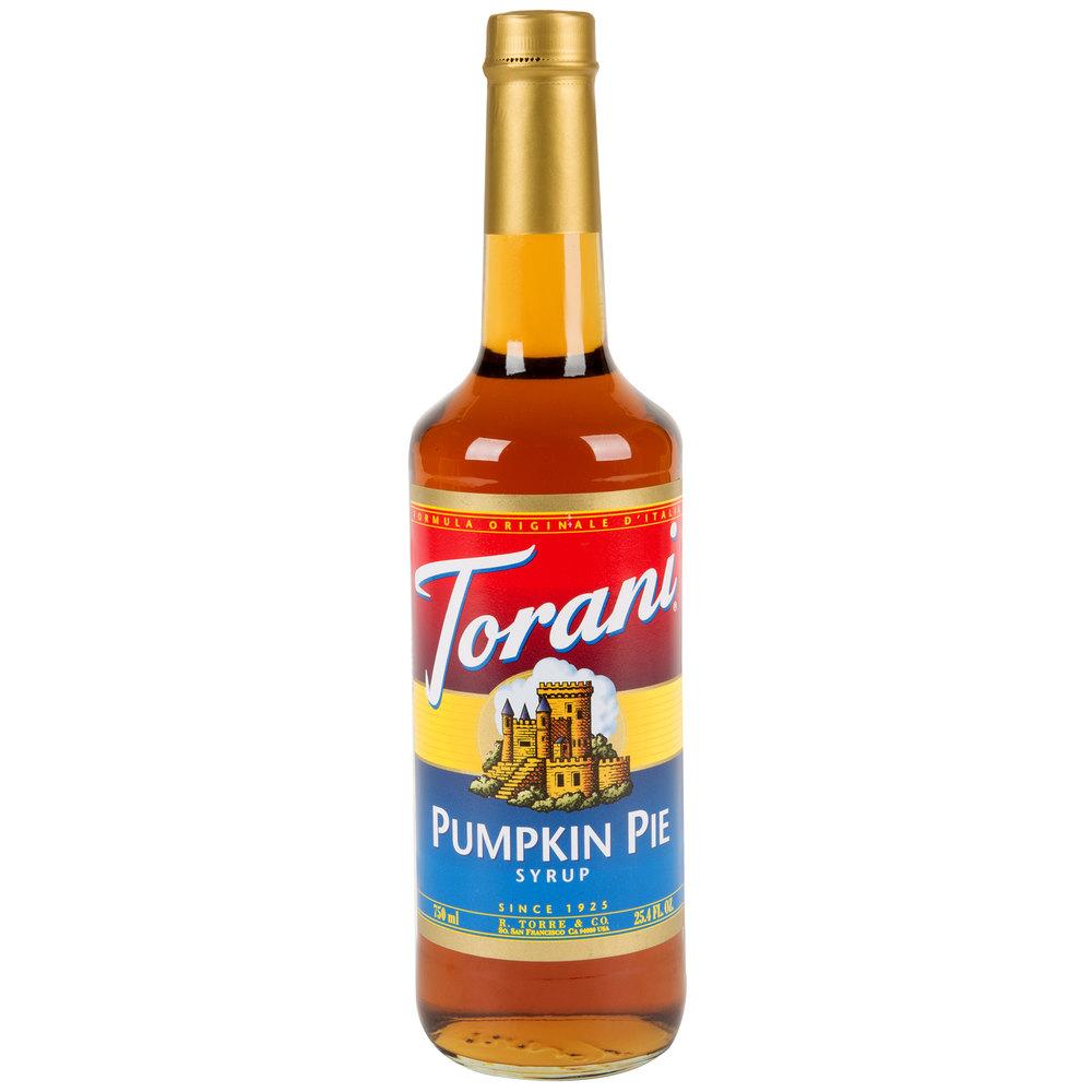 Torani 750mL Pumpkin Pie Flavoring Syrup