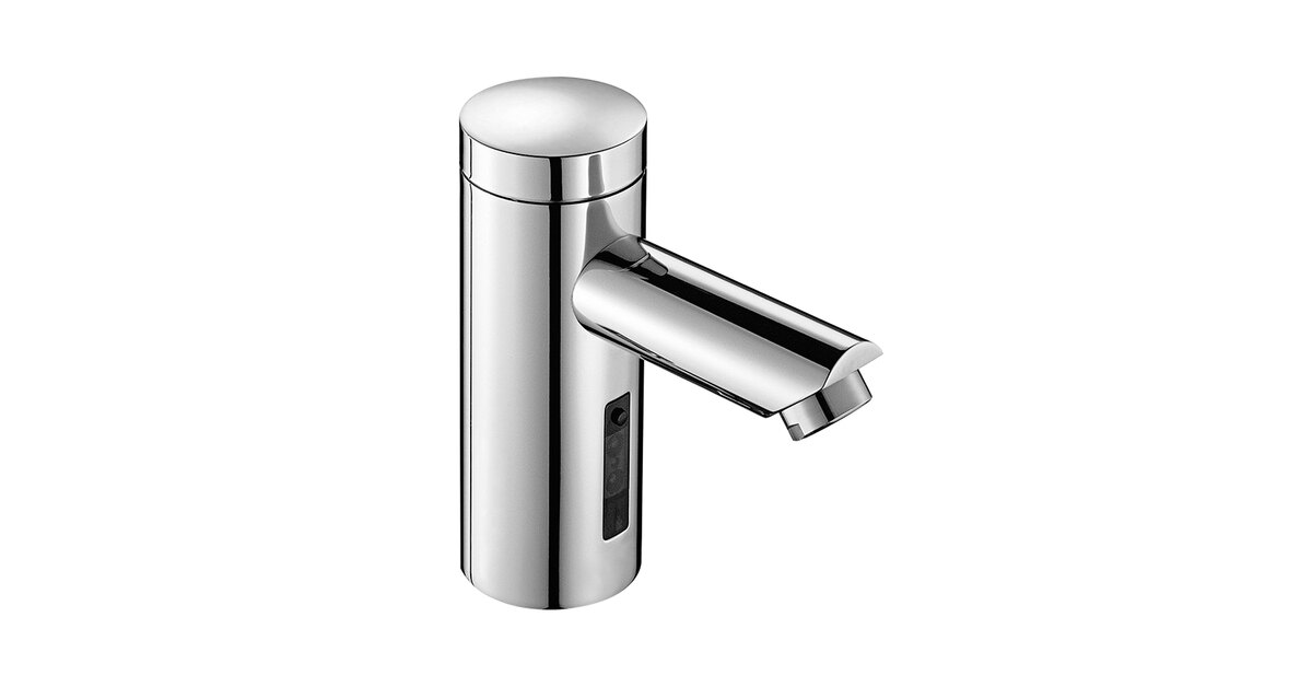 sloan 3335093 optima bluetooth polished chrome deck mounted sensor faucet with 5 5 16 spout and 0 35 gpm laminar spray device