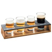 Cal-Mil 3480-99 Madera Reclaimed Wood Write-On Beer Flight ...