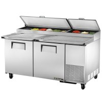"""True TPP-67 67"""" Refrigerated Pizza Prep Table with Topping ..."""