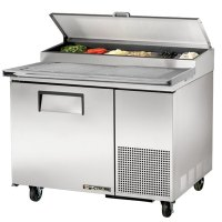 """True TPP-44 44"""" Refrigerated Pizza Prep Table with Topping ..."""