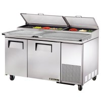 """True TPP-60 60"""" Refrigerated Pizza Prep Table with Topping ..."""