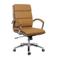 Alera ALENR4259 Neratoli Mid-Back Camel Leather Office ...