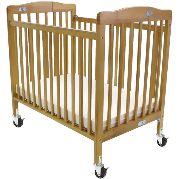 L A Baby 888a N 24 X 38 Natural Folding Pocket Crib With 3 Fire Ant Mattress