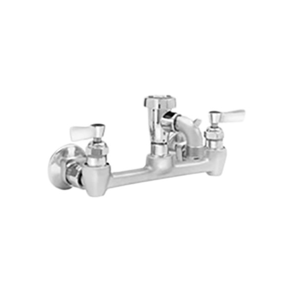fisher 2445 wall mounted service sink faucet with 8 centers 3 service sink spout garden hose outlet and lever handles