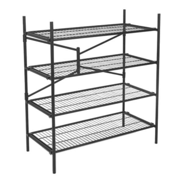Cosco 66714BLK1E Black 4 Shelf Instant Storage Steel