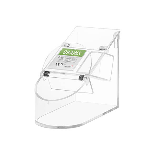 Rosseto SA126 Bulkshop 3.5 Gallon Clear Acrylic Scoop Bin