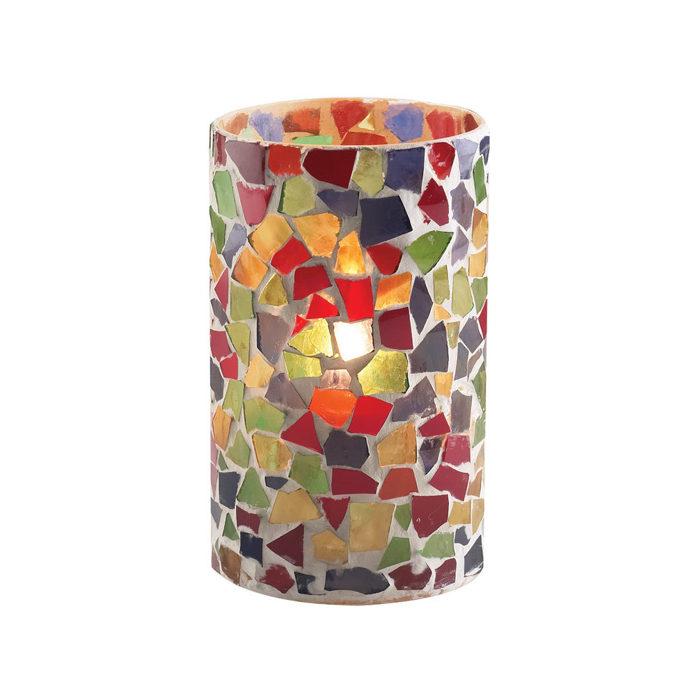 """Sterno Products 80204 5"""" Multicolor Mosaic Candle Liquid"""