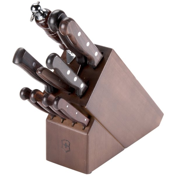 Victorinox 46153 11 Piece Knife Block Set With Rosewood