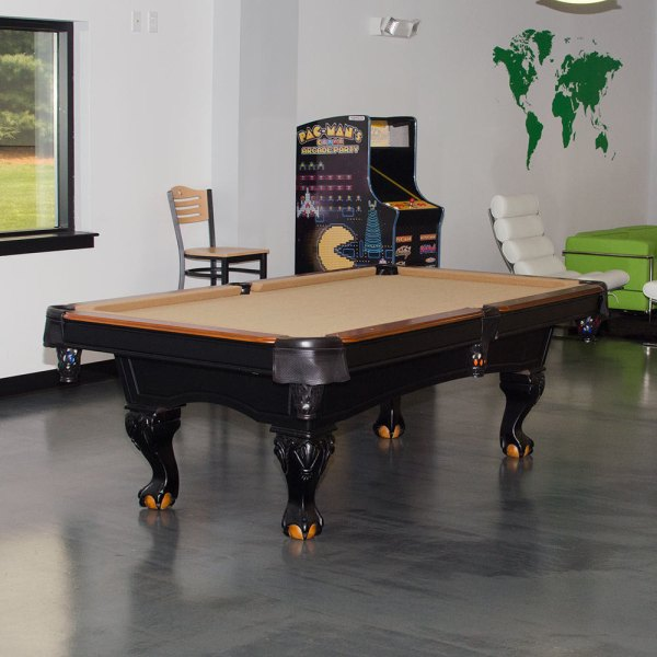 Dmi Sports Mft800-tbl Minnesota Fats Covington 8' Tan Billiard Pool Table With Accessories