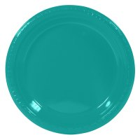 "Creative Converting 28111011 7"" Tropical Teal Plastic"