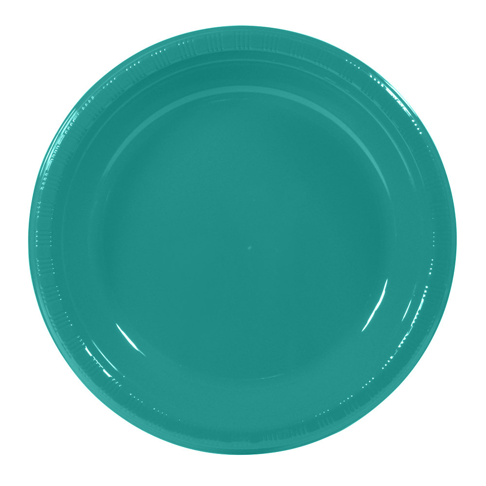 "Creative Converting 28111031 10 1/4"" Tropical Teal Plastic"