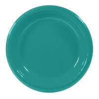 "Creative Converting 28111031 10 1/4"" Tropical Teal Plastic ..."