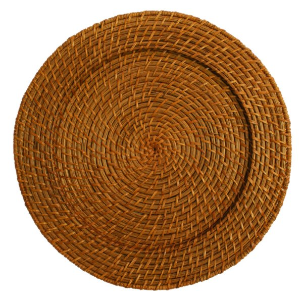"""Jay Companies 13"""" Honey Rattan Charger Plate"""