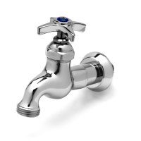 "T&S B-0718 Single Sink Faucet with 1/2"" NPT Male Inlet, 4 ..."