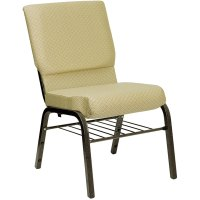 """Beige 18 1/2"""" Wide Church Chair with Communion Cup Book ..."""