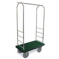 CSL 2099BK-020 Stainless Steel Finish Bellman's Cart with ...