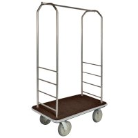 CSL 2000GY-040 Chrome Finish Easy-Mover Bellman's Cart ...