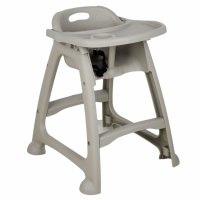 Choice Gray Polypropylene Stackable High Chair with Tray ...