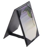 "Menu Solutions TT067A BLK 4"" x 6"" A-Frame / Two View Black ..."