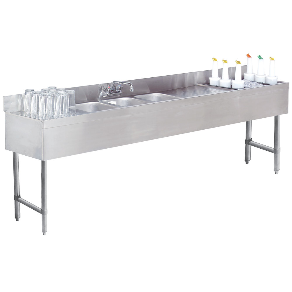 Advance Tabco SLC83CR Three Compartment Stainless Steel