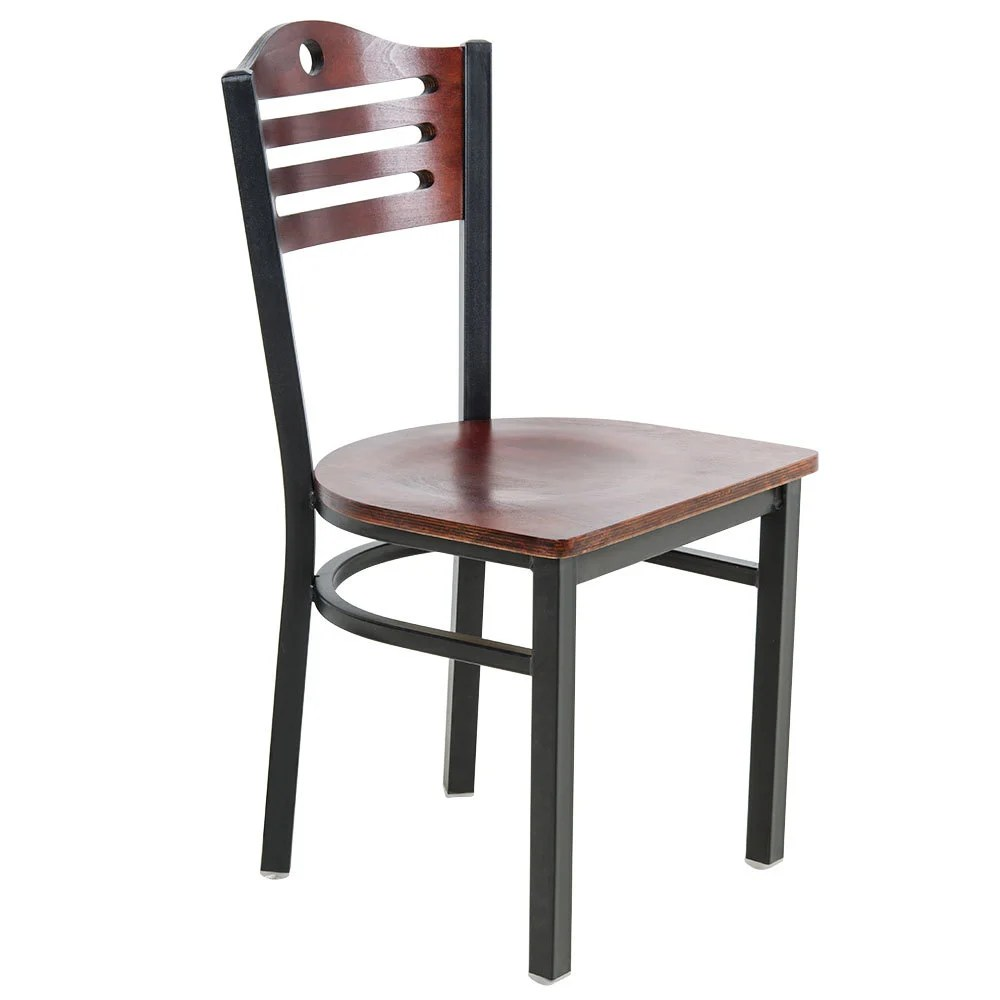 Lancaster Table  Seating Mahogany Finish Bistro Dining Chair