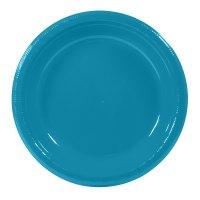 "Creative Converting 28-3131-31 10"" Turquoise Plastic Plate ..."