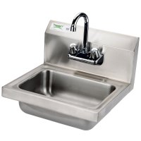 Regency Wall Mounted NSF Hand Sink with Gooseneck Faucet ...