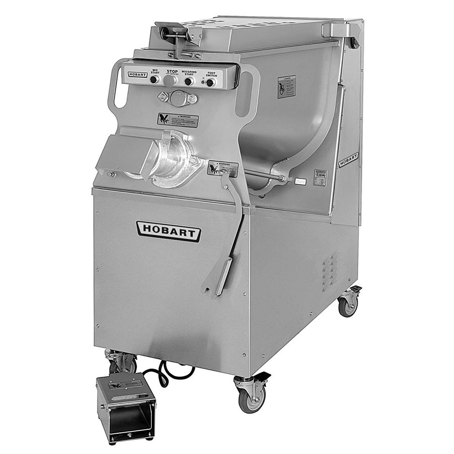 medium resolution of 208v 3 phase hobart mg1532 1 32 meat mixer grinder with air drive foot switch operation 7 5 hp jpg