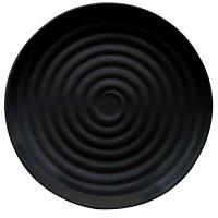 """GET ML-83-BK Milano 12 1/2"""" Black Melamine Round Plate ..."""