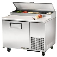 """True TPP-44 44"""" One Door Refrigerated Pizza Prep Table"""