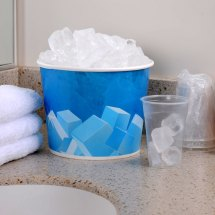 Lavex Lodging 5 Lb. Disposable Paper Ice Bucket - 25 Pack