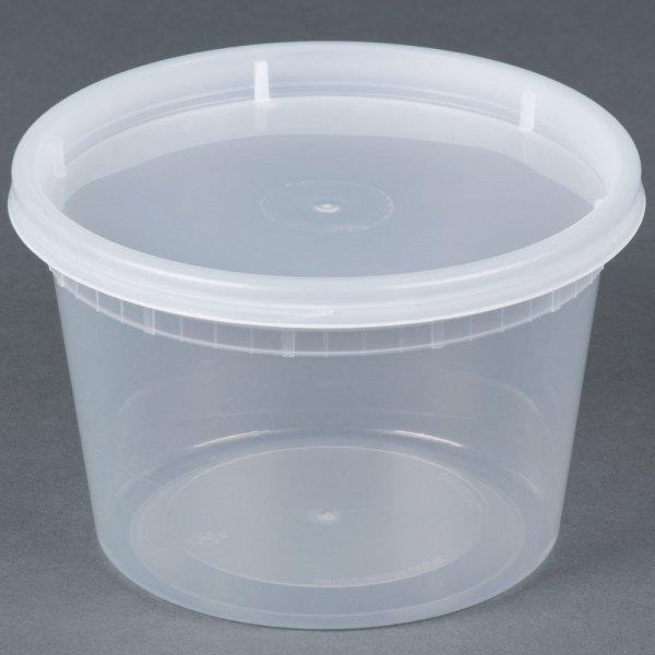 16 Oz. Microwavable Translucent Plastic Deli Container
